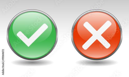 Fotografie, Obraz  Button-Set - Wahlen und Abstimmungen