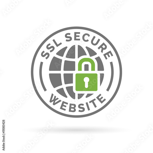 Secure Ssl Website Icon Globe With Padlock Sign Secure Globe