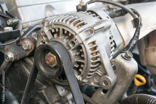 Fotografija  Car engine closeup, Part of car engine