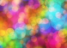 Holiday Blur Manycolored Rounds Bokeh Backgrounds