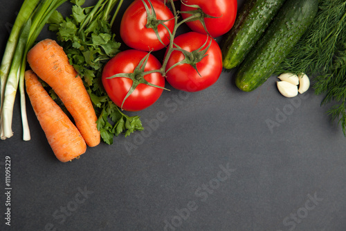 Food Frame Vegetables For Cooking On Dark Background Top View Frame Banner Buy This Stock Photo And Explore Similar Images At Adobe Stock Adobe Stock