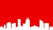 logo immobilier de bureaux rouge