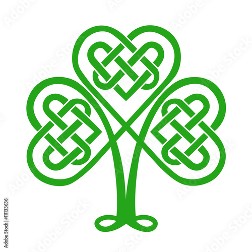 Celtic knot, shamrock heart, lucky charm, Irish, St  Patricks day