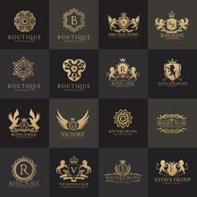 Luxury Royal Crest Logo Collec...