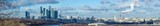 Panoramic winter view of Moscow city from Sparrow Hills, Russia