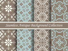 Antique Seamless Brown Background Collection_104