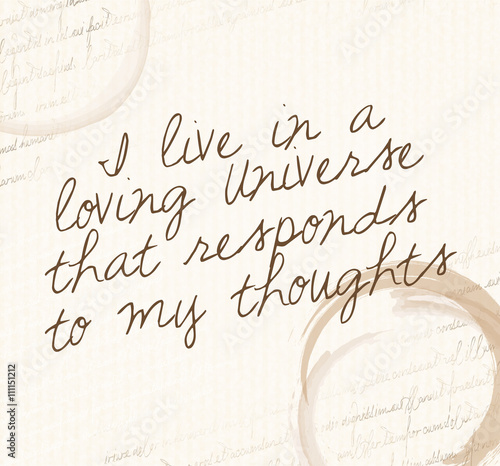 Foto  Law of attraction quote
