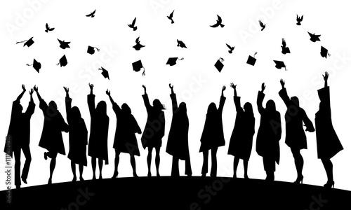 Graduation joy and freedom Canvas Print