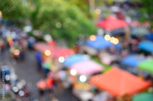 Fotografie, Tablou Blur people walking in market abstract background.