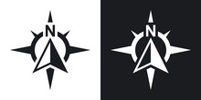 Compass Concept Icon, Vector. ...