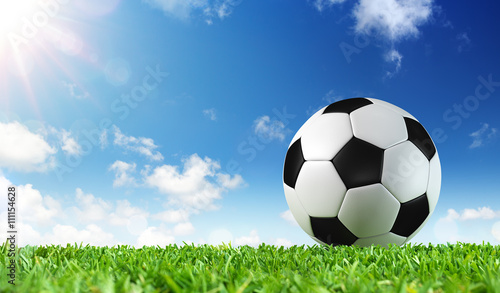 Ball On Grass Of Stadium