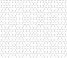 Gray Hexagon Grid Seamless Pat...