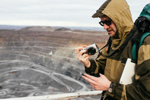 Journalist Photographs Mining And Processing Plant