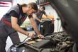 Reparatur,Motorraum,arbeiten,reparieren,Auto,überprüfen,Arbeit