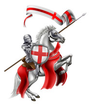 Saint George Of England Knight On Horse