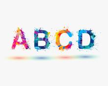 Alphabet. Letters A B C D. Part 1
