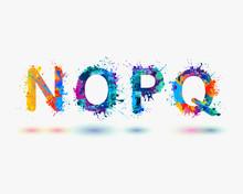 Alphabet. Letters N, O, P, Q. Part 4