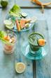 bevanda detox di lattuga e cetriolo