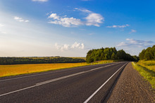 Asphalt Road In The Summer