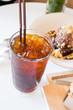 Iced americano coffee