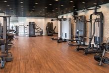 Modern Gym Interior With Equipment