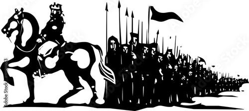 Pinturas sobre lienzo  Kings Army March