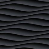 Czarny panel falista bezszwowa tekstura - 111181273