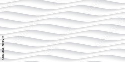 Fotografie, Obraz  White panel wavy seamless texture