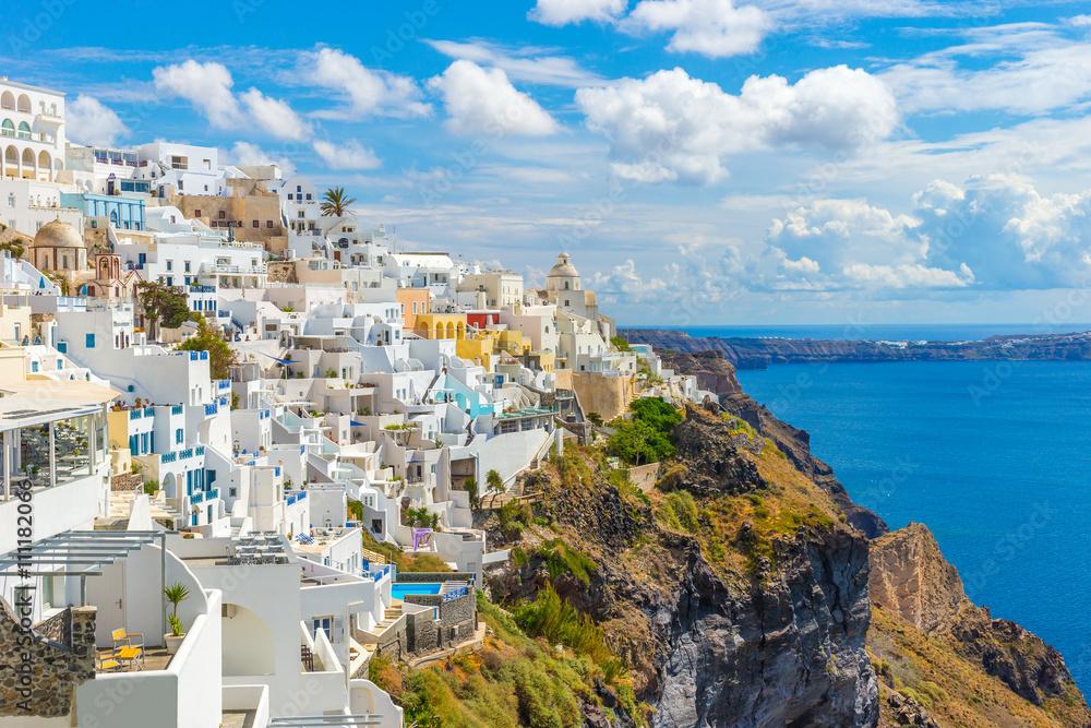 Fototapety, obrazy: Santorini wyspa, Fira, Cyklady, Grecja