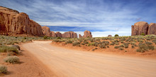 Scenic And Empty Dirt Road In ...
