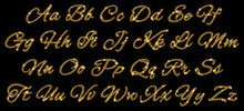Gold Glittering Alphabet Of St...
