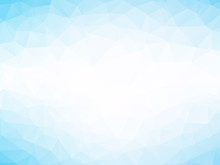 Soft Blue Triangles Background