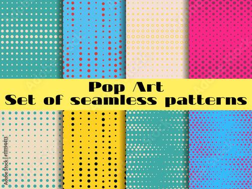 Poster  Dotted, Pop Art seamless pattern