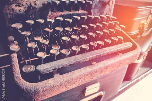Foto op Plexiglas Retro vintage typewriter keyboard