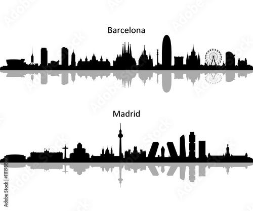 Skyline Barcelona Madrid