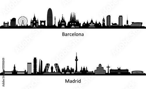 Skyline Barcelona Madryt