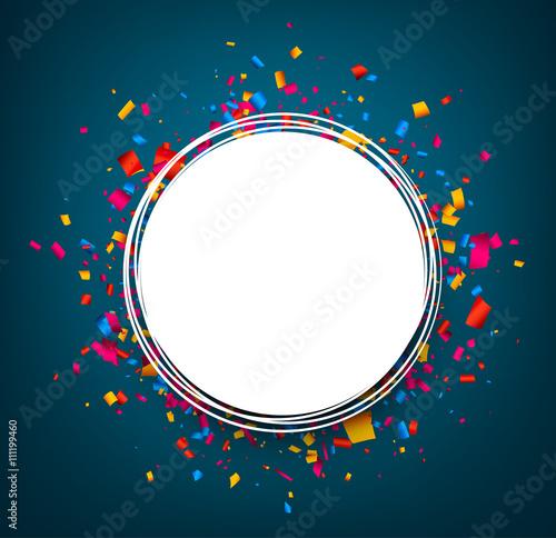 Fotografia, Obraz Round festive blue background.