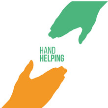 Helping Hands, Colorful Vector...
