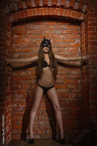 Fotografie, Obraz girl in the mask of Batman