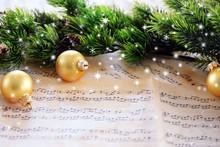 Christmas Decorations On Music...