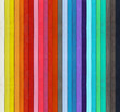canvas print picture Crayons - detail of the colored pastels