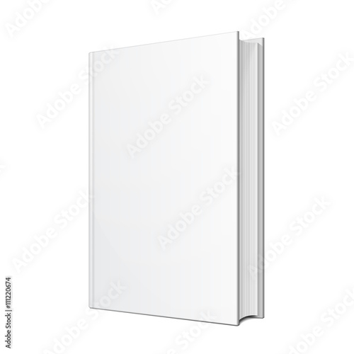 Valokuva  Blank Hardcover Book Illustration Isolated On White Background