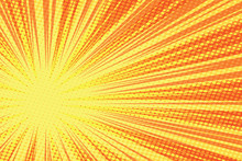 Red Yellow Retro Rays Vector Background