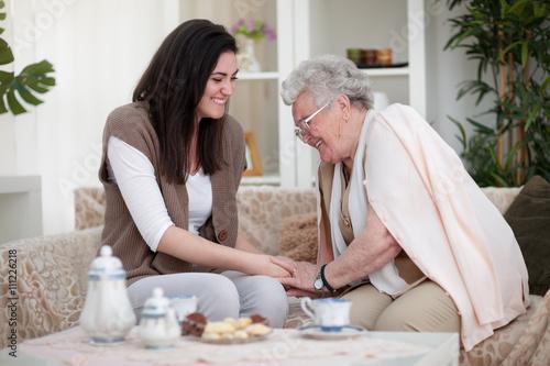 Obraz na płótnie Grandma's fun stories