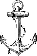 Vintage Drawing Anchor