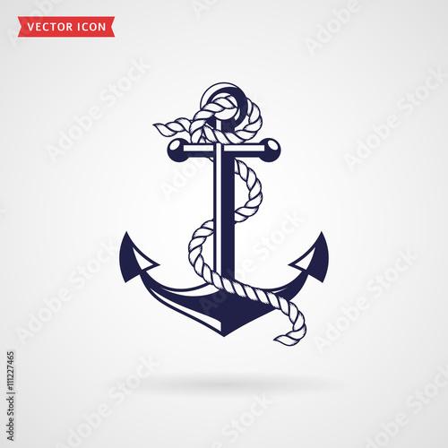Anchor icon. Fototapet