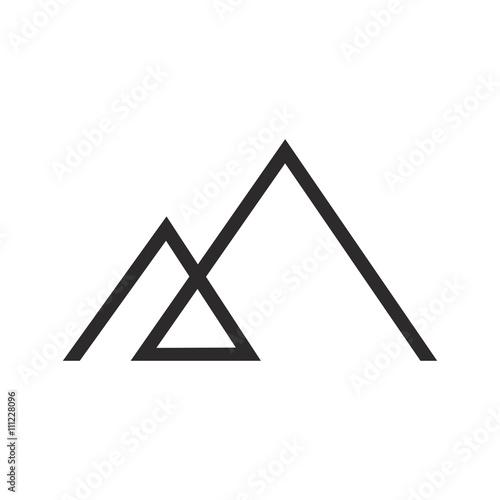 Mountain logo icon vector Wall mural