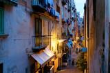 Fototapeta Uliczki - NAPLES, ITALY - January 16, 2016 : Street view of old town night