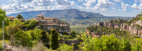 Panoramic view of the medieval village of Siurana in Catalonia