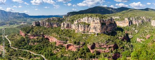 Rocky landscape around Siurana in Catalonia